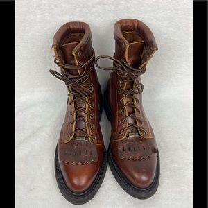 Double H Lacer Kiltie Boot